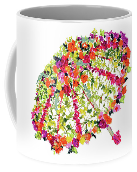 April Showers Coffee Mug featuring the pastel April Showers Bring May Flowers by Lauren Heller