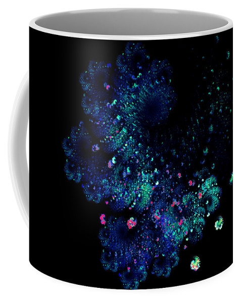 Fractal Coffee Mug featuring the digital art April Showers May Flowers by Claire Bull