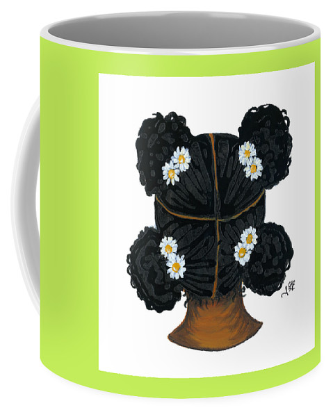 Naturally Me Kidz Coffee Mug featuring the painting Daisy by Sonja Griffin Evans