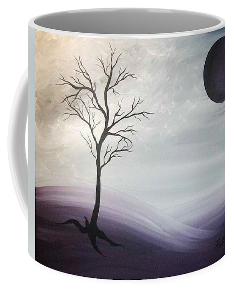 Moon Coffee Mug featuring the painting Aproaching by Katie Slaby