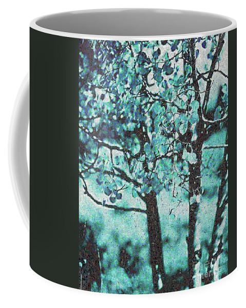 Aqua Coffee Mug featuring the photograph Aqua Aspens by Jim And Emily Bush
