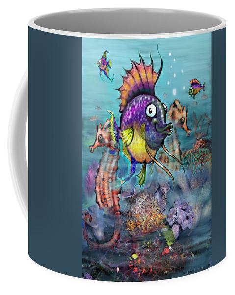Aquarium Coffee Mug featuring the painting Aquarium by Kevin Middleton