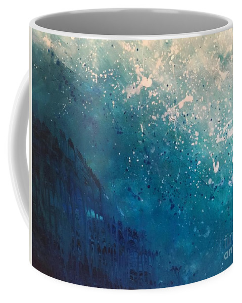 Water Coffee Mug featuring the painting Aquatic Life by Shelley Myers