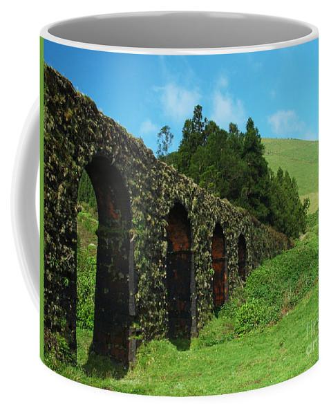 Ancient Coffee Mug featuring the photograph Aqueduct by Gaspar Avila