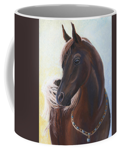 Horse Coffee Mug featuring the painting Arabian Prince by Heather Coen