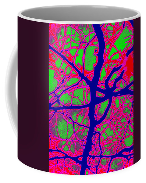 Abstract Coffee Mug featuring the digital art Arbor Mist 2 by Tim Allen