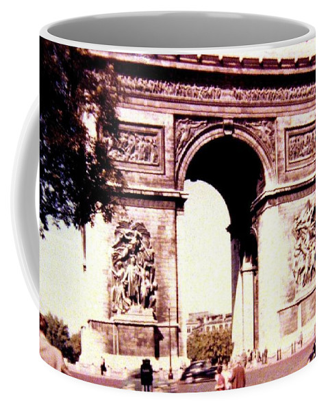 1955 Coffee Mug featuring the photograph Arc De Triomphe 1955 by Will Borden