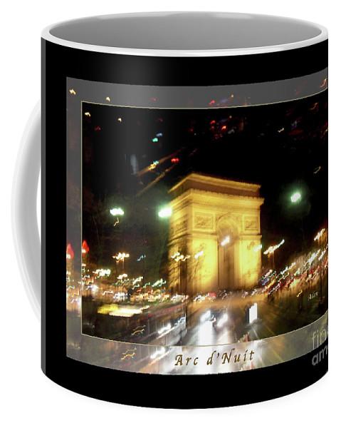 Paris Coffee Mug featuring the photograph Arc De Triomphe By Bus Tour Greeting Card Poster V1 by Felipe Adan Lerma