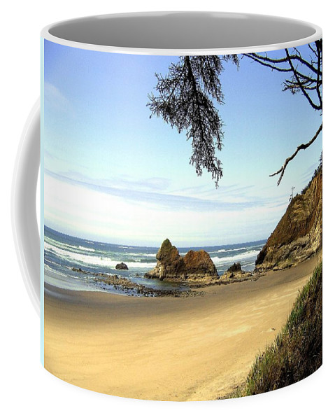 Arcadia Beach Coffee Mug featuring the photograph Arcadia Beach by Will Borden