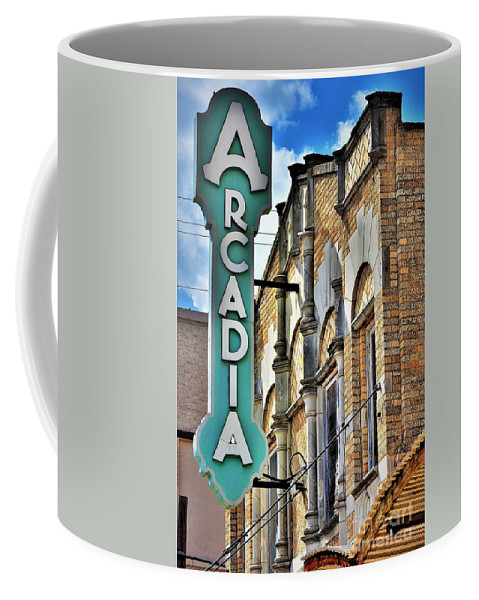Temple Texas Coffee Mug featuring the photograph Arcadia Theater by Dennis Nelson