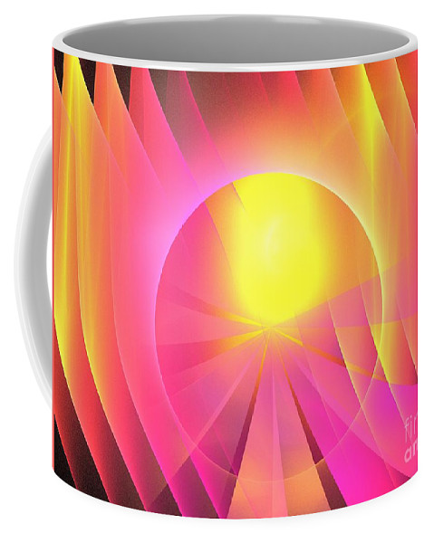 Apophysis Coffee Mug featuring the digital art Archangel Chamuel by Kim Sy Ok