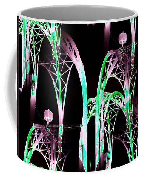 Seattle Coffee Mug featuring the digital art Arches 3 by Tim Allen