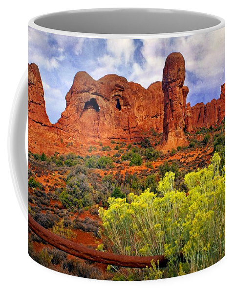 Landscape Coffee Mug featuring the photograph Arches Landsape 2 by Marty Koch