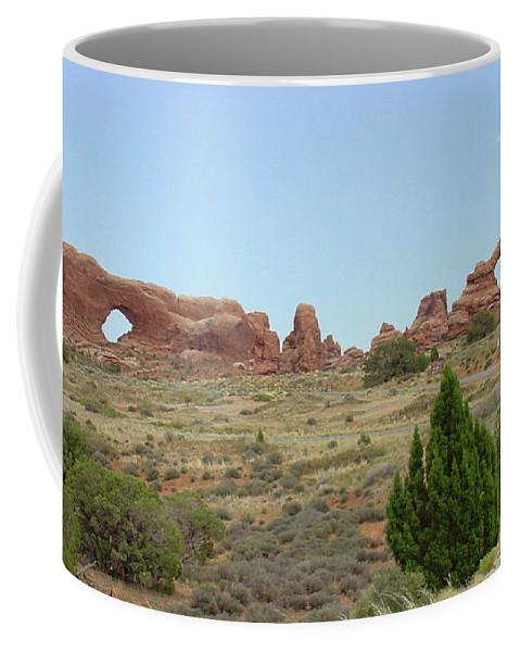 Arches National Park Coffee Mug featuring the photograph Arches National Park 21 by Dawn Amber Hood