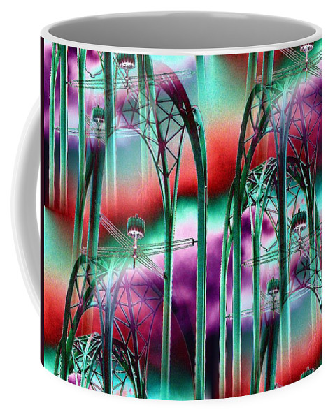 Seattle Coffee Mug featuring the digital art Arches by Tim Allen