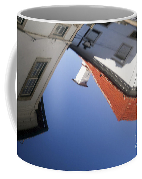 Reflection Coffee Mug featuring the photograph Architecture Reflection by Vladi Alon