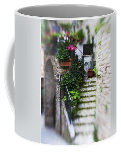Italy Coffee Mug featuring the photograph Archway And Stairs by Marilyn Hunt
