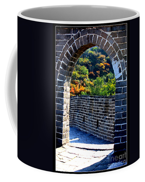 The Great Wall Of China Coffee Mug featuring the photograph Archway To Great Wall by Carol Groenen