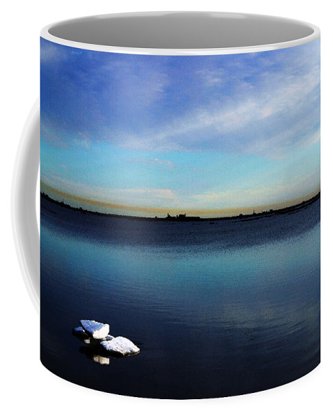 Digital Art Coffee Mug featuring the digital art Arctic Ice by Anthony Jones