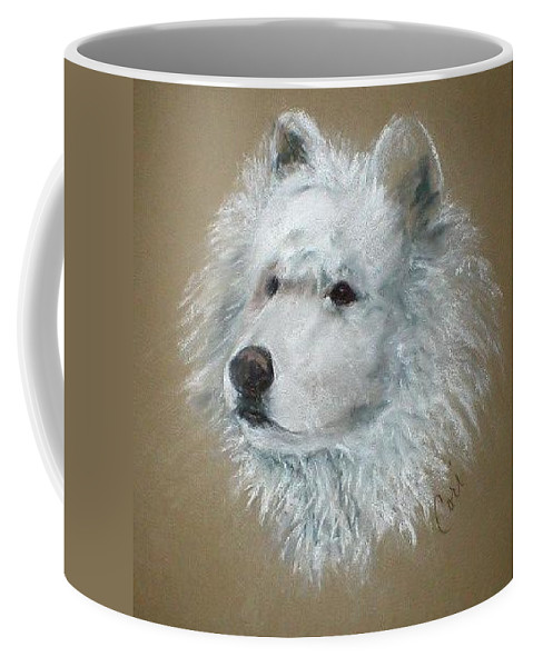 Pastel Coffee Mug featuring the drawing Arctic Majestry by Cori Solomon