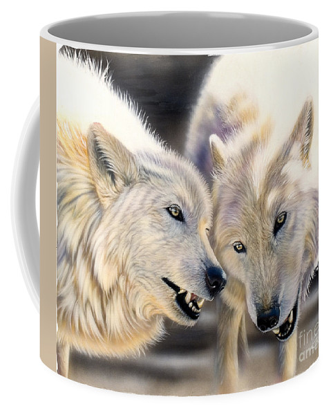 Acrylics Coffee Mug featuring the painting Arctic Pair by Sandi Baker