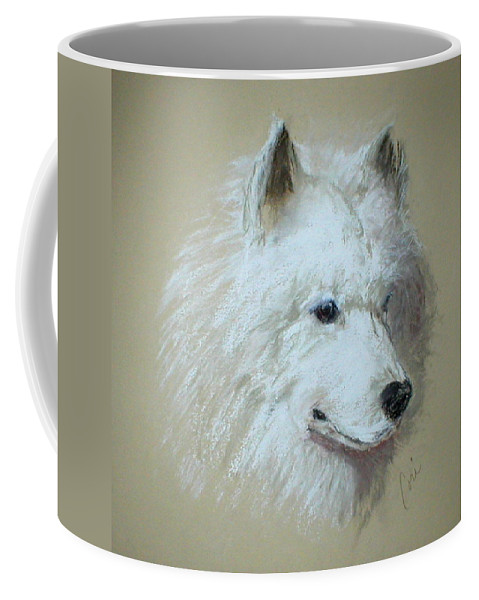 Dog Coffee Mug featuring the drawing Arctic Serenity by Cori Solomon