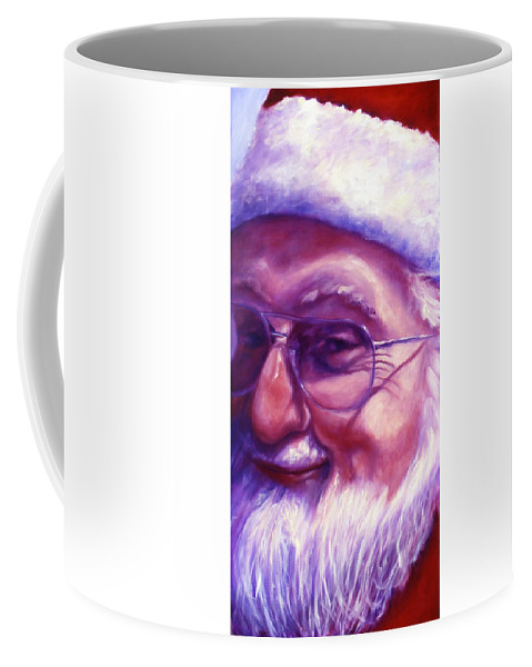 Portrait Coffee Mug featuring the painting Are You Sure You Have Been Nice by Shannon Grissom