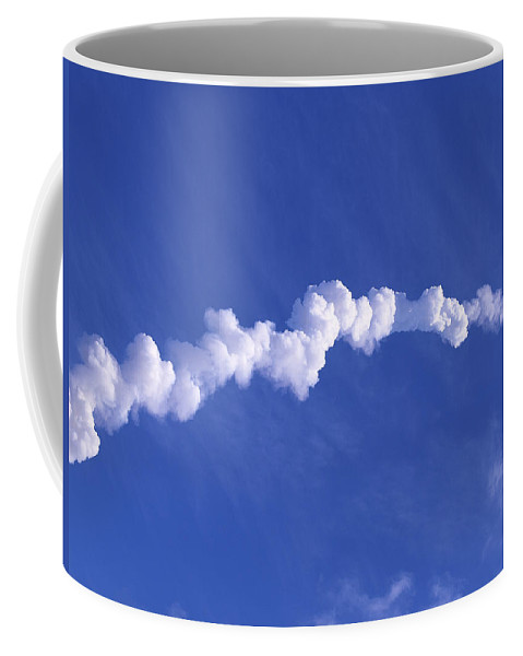 Rocket Coffee Mug featuring the photograph Area1x Rocket Exhaust Trail by Allan Hughes
