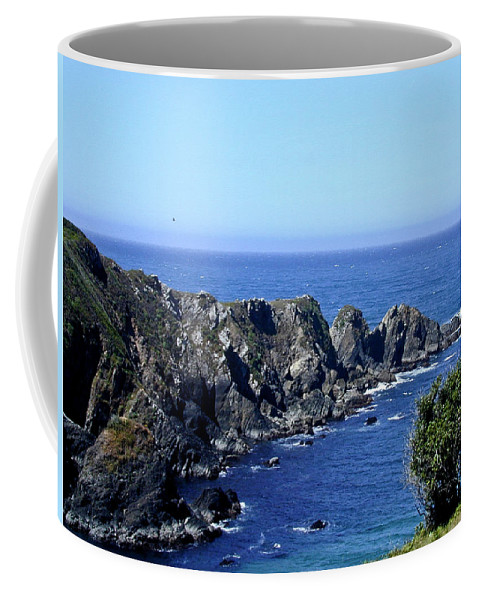 Arena Coffee Mug featuring the photograph Arena Point California by Douglas Barnett