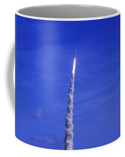 Rocket Coffee Mug featuring the photograph Ares-1 Rocket Launch by Allan Hughes