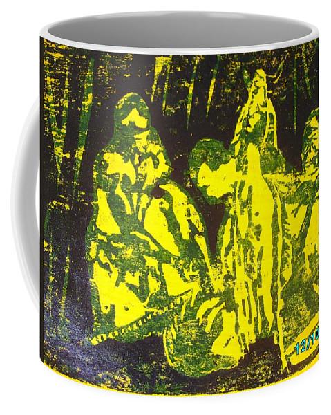 Festival Coffee Mug featuring the mixed media Argungun Festival 2 by Olaoluwa Smith