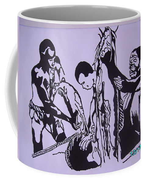 Festival Coffee Mug featuring the painting Argungun Fish Festival by Olaoluwa Smith