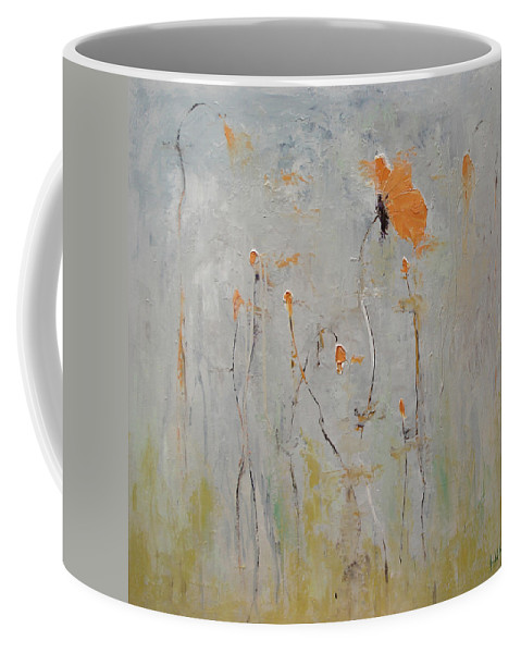 Floral Coffee Mug featuring the painting Aria by Barbara Andolsek
