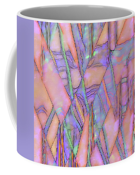 Abstract Coffee Mug featuring the digital art Arise From by Linda Dunn