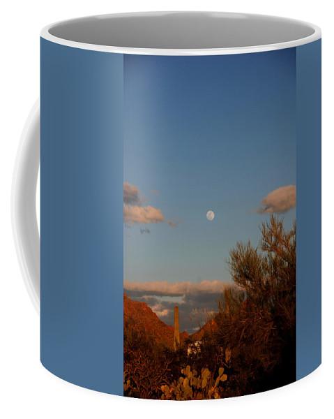 Arizona Coffee Mug featuring the photograph Arizona Moon II by Susanne Van Hulst