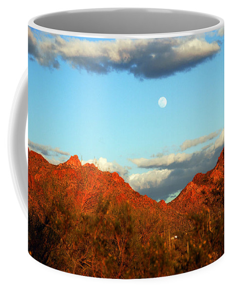Arizona Moon Coffee Mug featuring the photograph Arizona Moon by Susanne Van Hulst