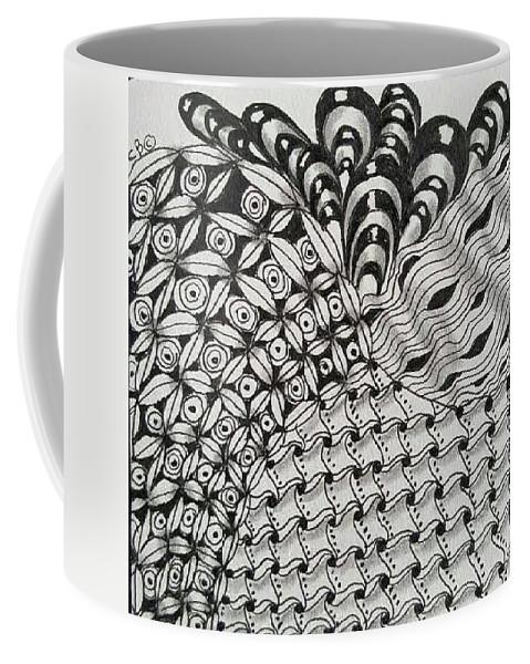 Zentangle Coffee Mug featuring the drawing Arizona by Carole Brecht