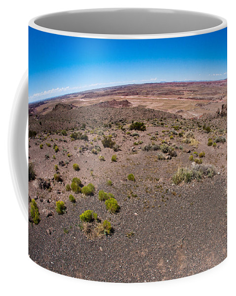 Painted Coffee Mug featuring the photograph Arizona's Painted Desert #2 by Robert J Caputo