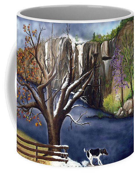 Spring Coffee Mug featuring the painting Arkansas Seasonal Glory by Patty Vicknair