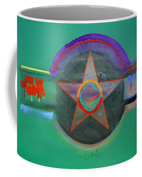 Star Coffee Mug featuring the painting Arlington Green by Charles Stuart