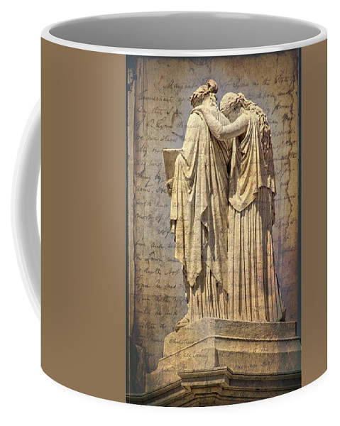 Washington Dc Statue Coffee Mug featuring the photograph Arm On Shoulder by Alice Gipson