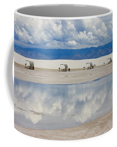 New Mexico Coffee Mug featuring the photograph Armageddon Picnic by Skip Hunt