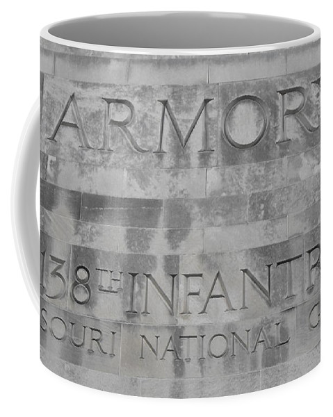 Armory Signage Coffee Mug featuring the photograph Armory Signage by Ginger Repke
