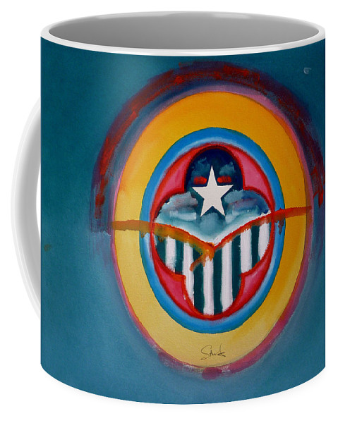 Button Coffee Mug featuring the painting Army by Charles Stuart