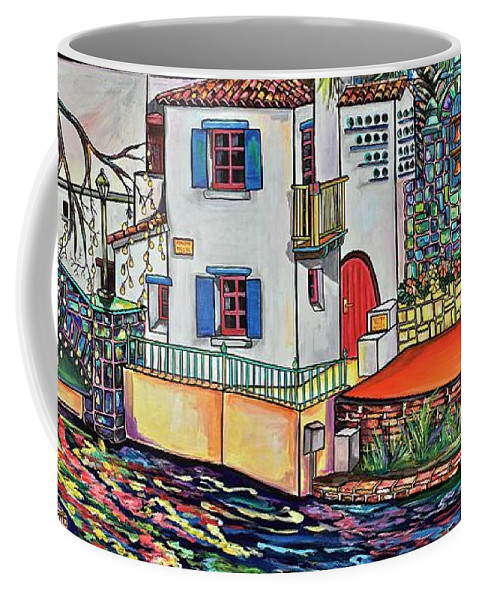 Arneson Theatre Coffee Mug featuring the painting Arneson Theatre In Blues by Patti Schermerhorn