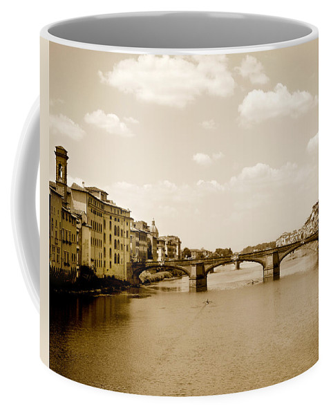 Italy Coffee Mug featuring the photograph Arno River Florence by Marilyn Hunt