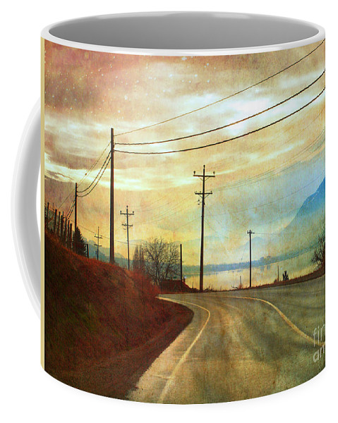 Road Coffee Mug featuring the photograph Around The Bend by Tara Turner