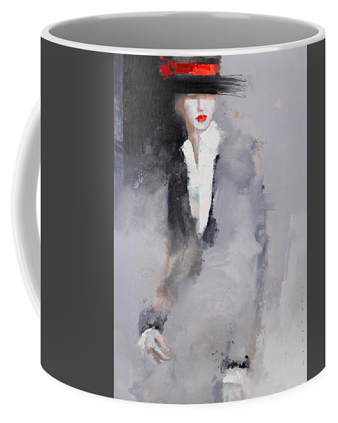Girl Coffee Mug featuring the painting Photographed by Viktor Sheleg