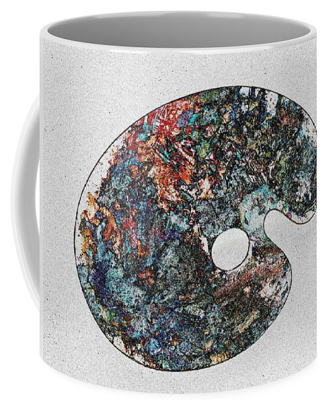 Palette Coffee Mug featuring the photograph Art Attack by Tim Allen