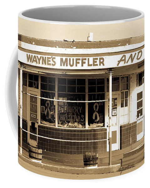 Americana Coffee Mug featuring the photograph Art Deco Gas Station Americana by Marilyn Hunt